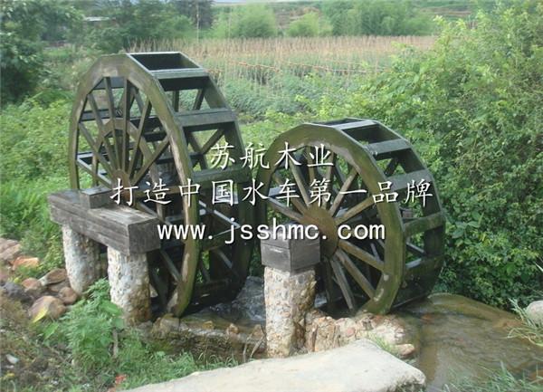 子母水轮车 木制水轮车厂家