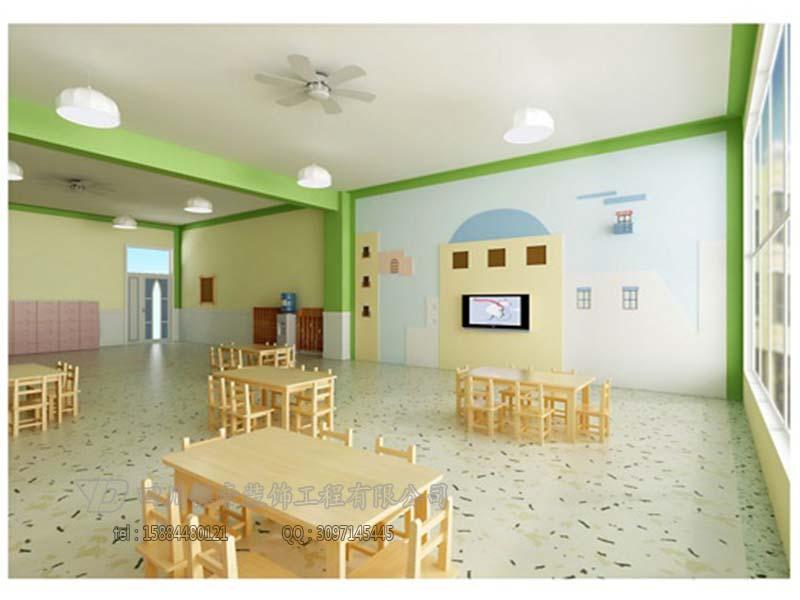 幼儿园装修小班活动环境装饰艺术的主题:健康教育