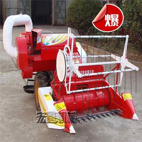 稻谷收割机视频 谷子脱粒机 小型谷子收割机 谷子脱粒机厂家