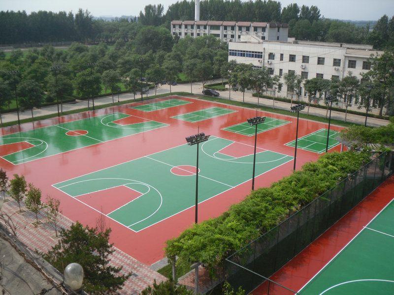 环保型硅pu塑胶篮球场材料厂家宜春硅PU球场