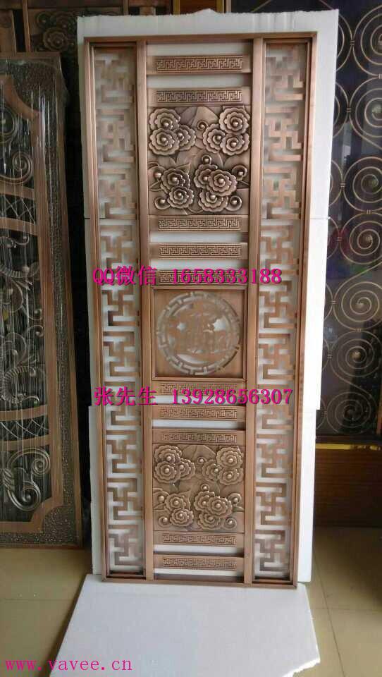 欧式风格会所装饰隔断酒店背景墙彩色时尚屏风格栅