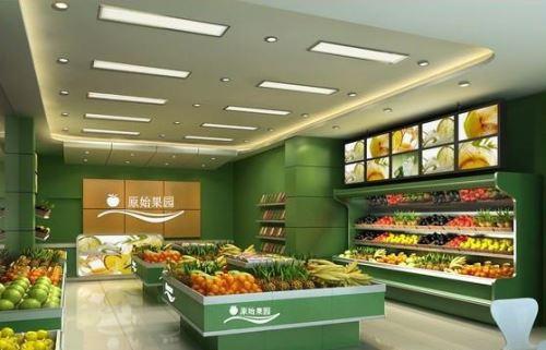 太原水果超市装修,太原水果店装修设计公司,水果店装修效果