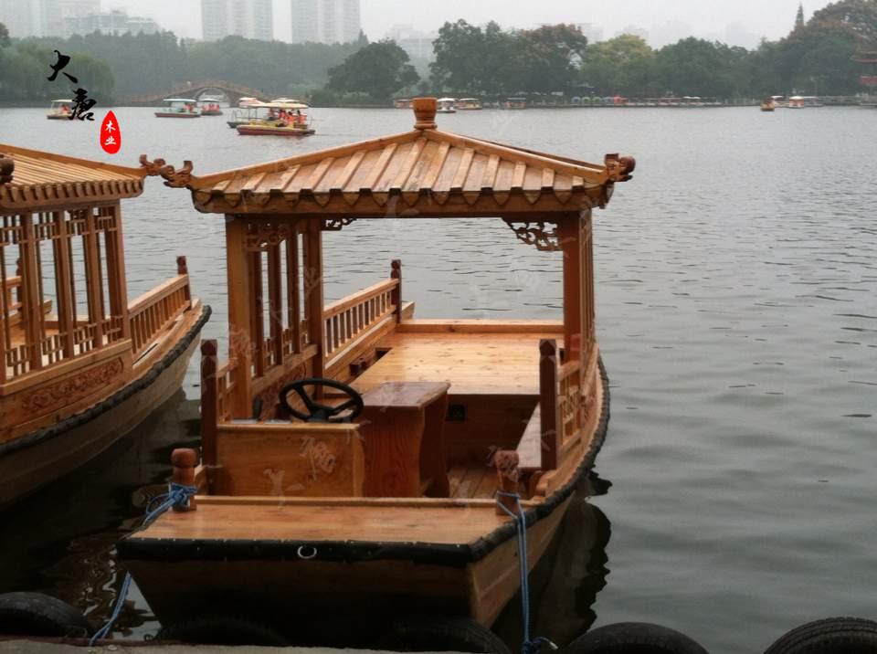厂家直供 休闲家用小船 单亭船 小木船 乌篷船 复古怀旧船