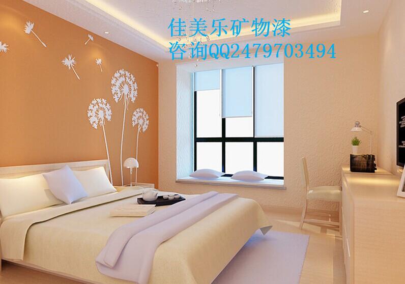 卧室床头硅藻泥装修效果图 欧式