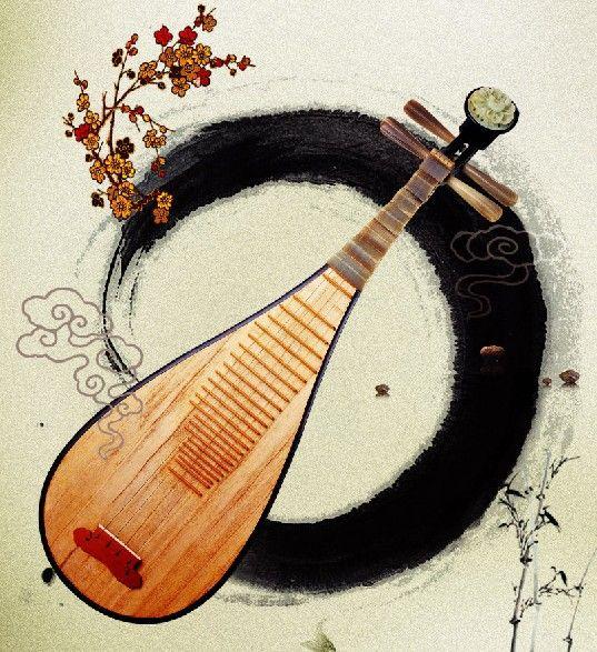 用纸箱制作乐器琵琶