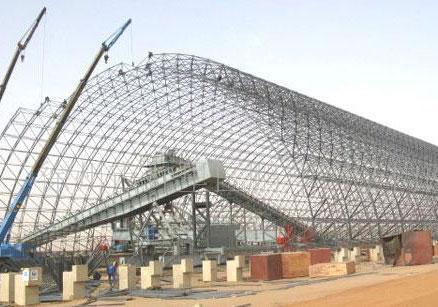 钢结构网架的分条分块安装法