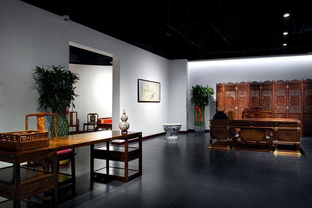 郑州某中式收藏会所装修效果图