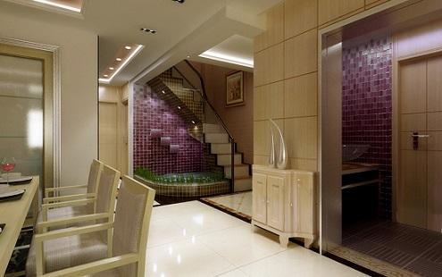 郑州12万的复式楼梯间装修效果图曝光