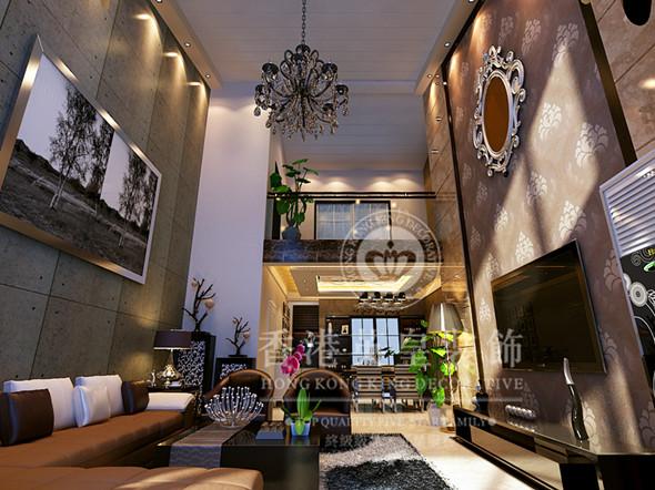 整體一個布局與造型設計裝修效果圖賞析-鄭州復式樓裝修公司-香港英皇