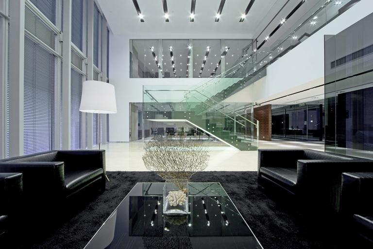 复式现代风格办公室装修效果图 郑州英皇装饰 复式办公室
