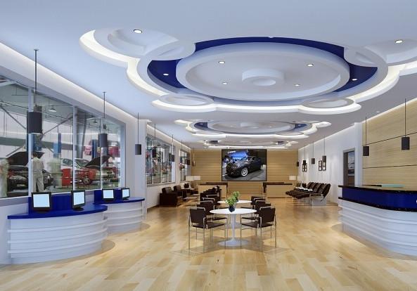 汽车4s店装修效果图_郑州英皇装饰设计工程有限公司