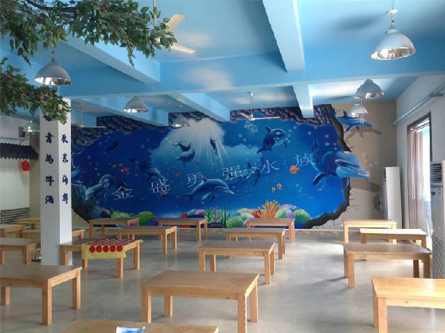 山东墙体立体手绘_专业的墙体立体手绘公司:墙体立体
