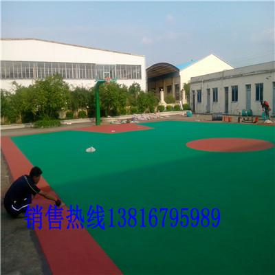 青田塑胶篮球场铺装方法