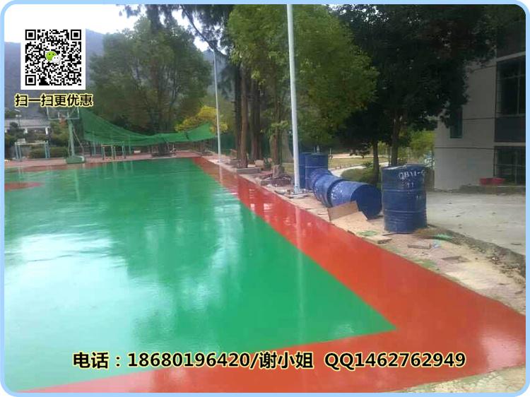 海南塑胶篮球场地材料批发 三亚羽毛球场地施