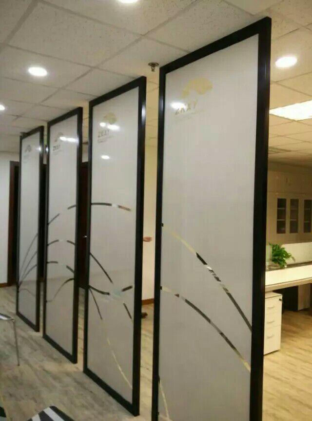 朝阳区办公室玻璃隔断磨砂贴玻璃门磨砂防撞条