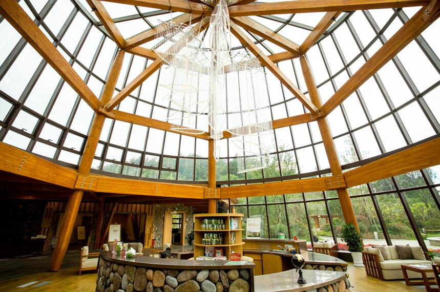 木结构建筑-健康管理展示中心  重木结构