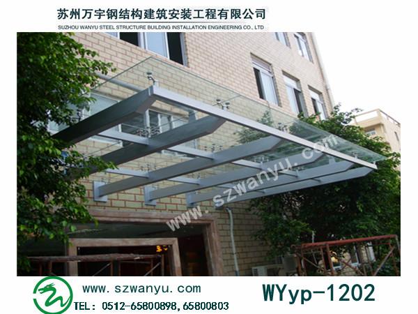 苏州车库雨棚 钢结构雨棚报价 玻璃雨棚安装