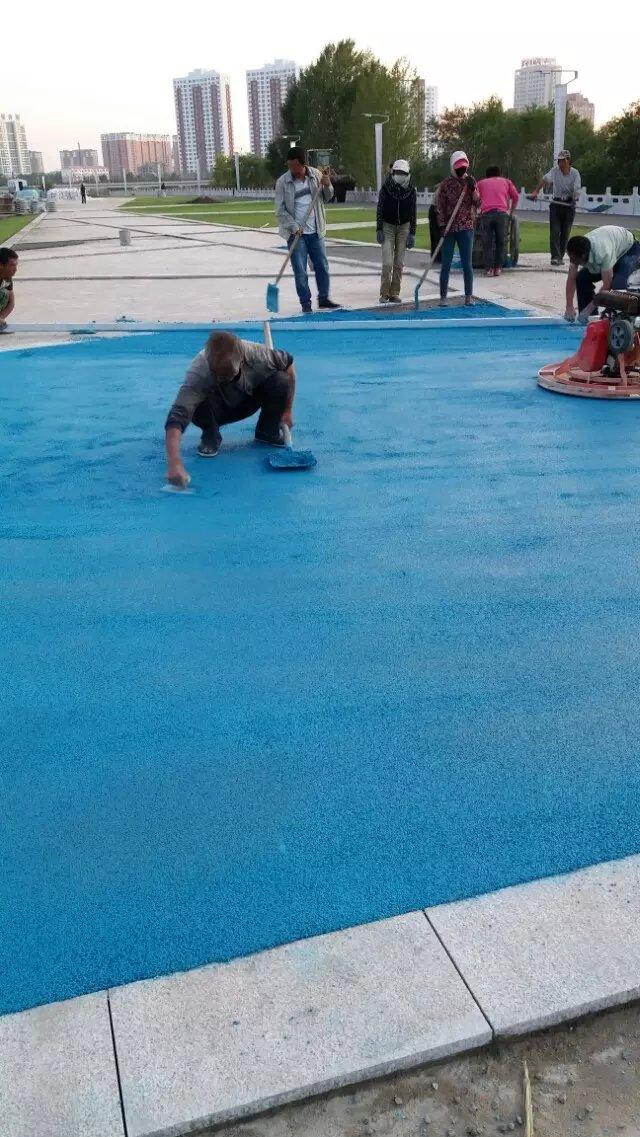 南安彩色透水混凝土路面厂家特价
