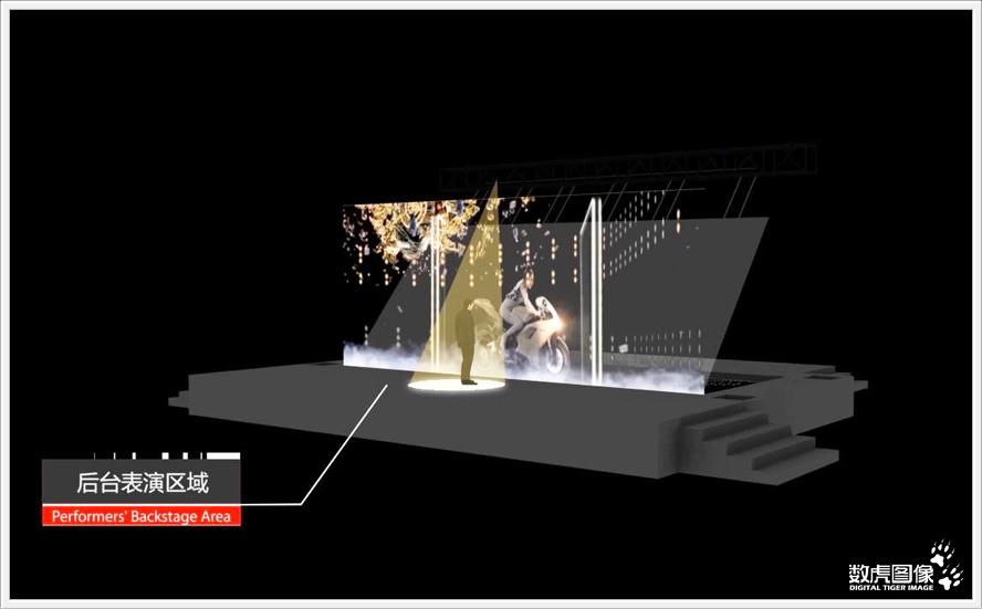 供应舞台上的全息投影技术专用投影膜幻影成像膜投影