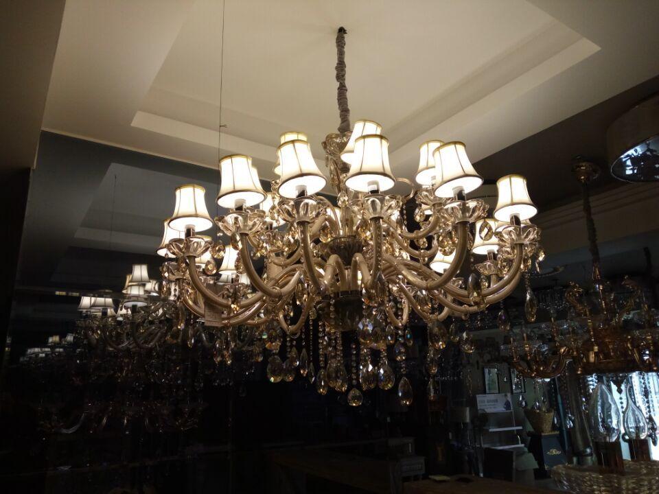 欧式水晶吊灯价格 欧普水晶吊灯报价 欧普水晶灯具 光明灯饰