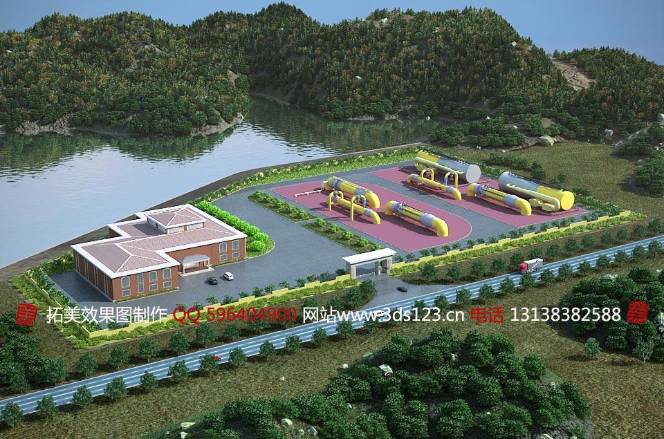 各种建筑效果图制作3d模型效果图制作各种道路绿化