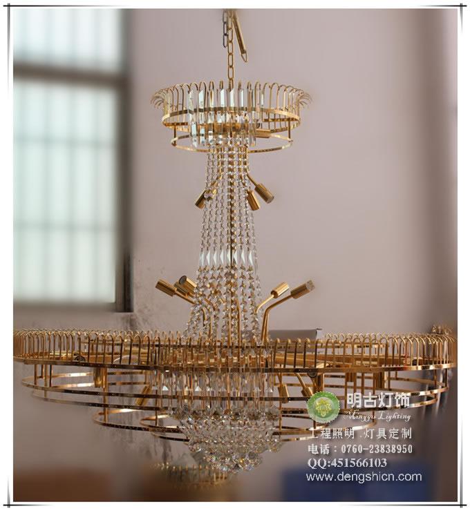 欧式镀金水晶灯定制设计生产工艺全过程展示