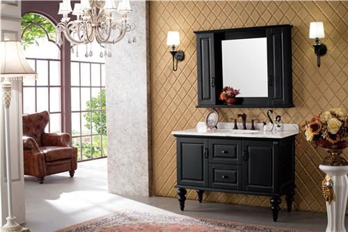 卫浴柜浴室柜 欧式 仿古实木新款落地品牌浴室柜6973