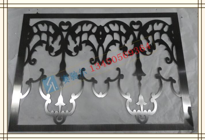边框采用不锈钢材质,是一种彩色不锈钢材料