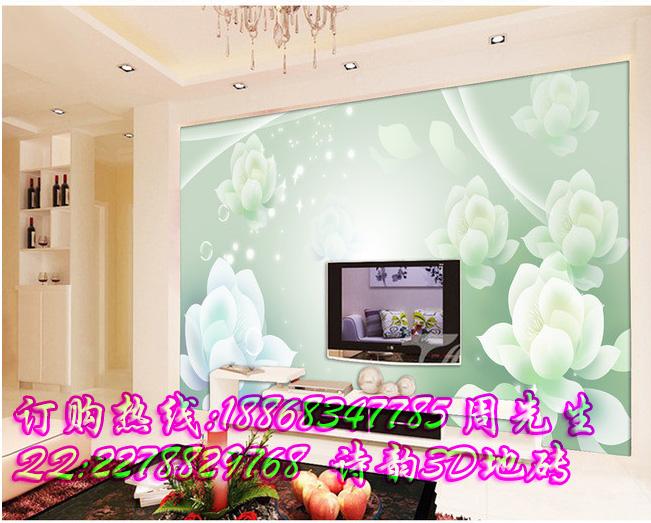 咸阳市3d玉兰花室雅兰香白色砖墙电视背景墙装饰促销活动