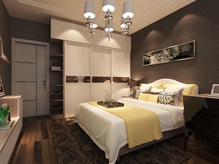 长方形卧房效果图搭配方案-诗尼曼家居100网图片