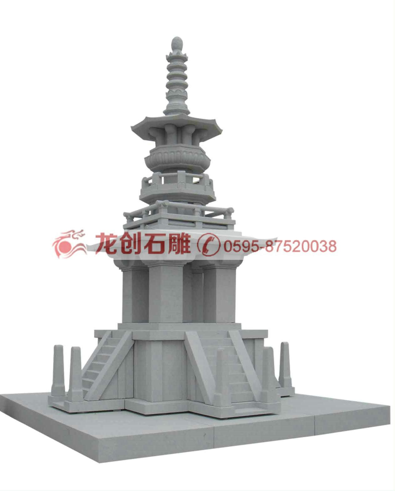石雕佛塔 花岗岩石塔 大型寺庙石塔