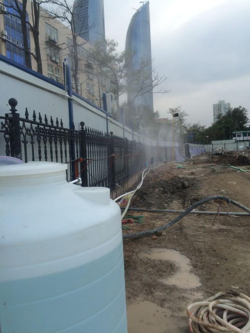 工地围挡喷淋_郑州建筑工地围挡喷淋降尘系统