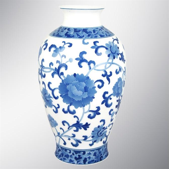 青花瓷花纹简笔画步骤瓶子