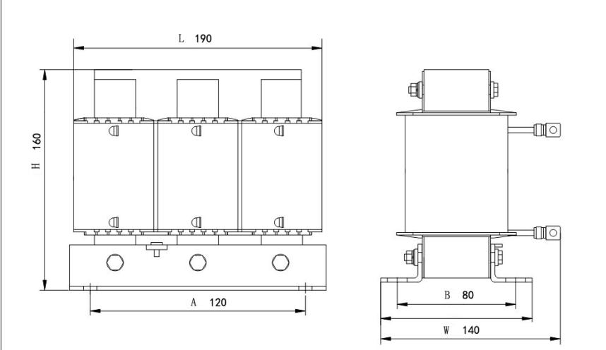 电抗率6% 480v 25kvar电容专用补偿电抗器