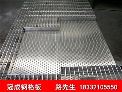 花纹复合钢格栅板,平台防滑复合齿形钢格板厂家直销