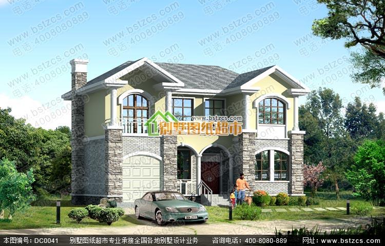 二層帶煙囪及車庫新農村房屋設計圖紙
