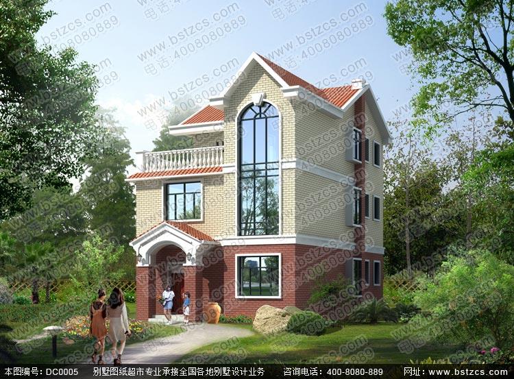 乡村三层别墅设计_别墅设计图纸_农村房屋设计图_农村