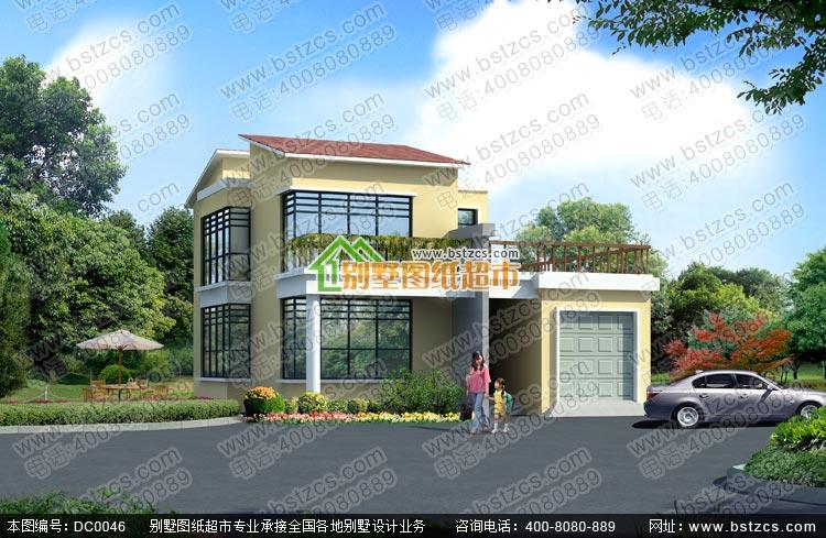 农村二层别墅设计图_漂亮现代农村别墅二层自建房设计