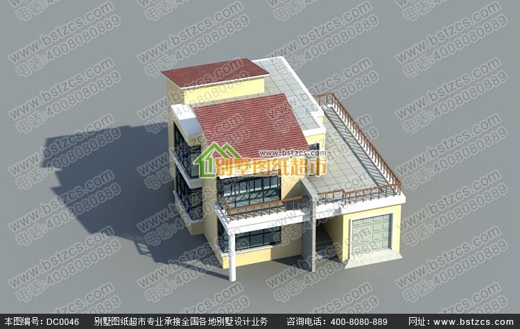 二层别墅设计图_漂亮现代农村别墅二层自建房设计