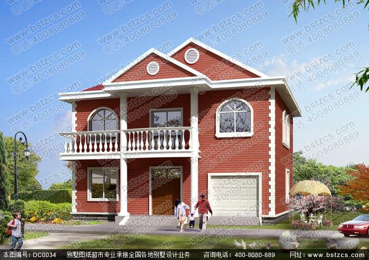 二层别墅图纸_别墅设计图纸_新农村别墅_农村自建房设计