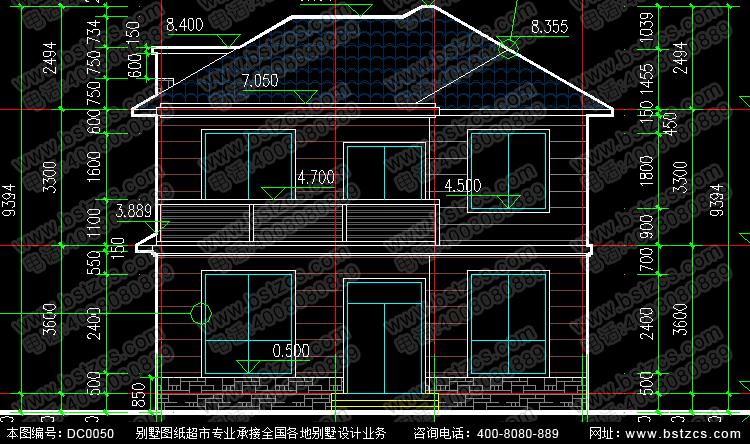 图纸属性 编号: DC0050 产品地址:http://www.bstzcs.com/goods-50.html 层数: 二层 结构形式: 砖混结构 开间: 10.2米 进深: 9.6米 占地面积: 92.29平方米 建筑面积: 201.08平方米 设计功能 一 层: 客厅、卧室(附卫生间)、厨房、餐厅、卫生间 二 层: 客厅、卧室(附卫生间)、卧室、卫生间、阳台 图纸内容 建 筑 图: 建筑施工总说明、建筑构造设计说明、一层平面图、二层平面图、屋顶平面图、正立面图、背立面图、左立面图、右立面图、1-1