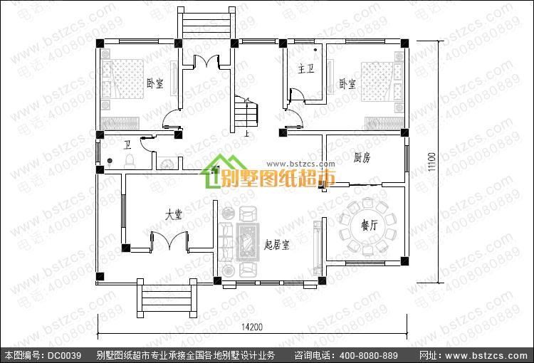 农村三层楼房设计图_三层别墅施工图_别墅设计图纸