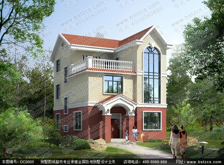 乡村三层别墅设计_别墅设计图纸_农村房屋设计图_农村自建房设