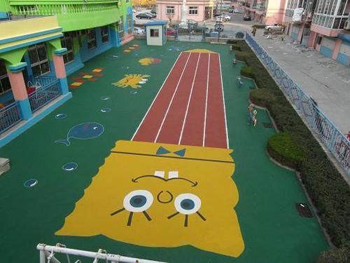 章丘幼儿园塑胶地面定制