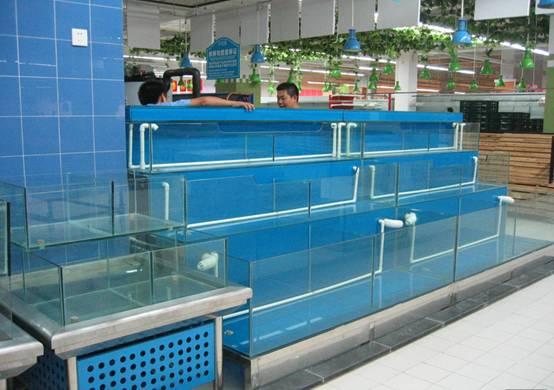 沙太北酒店海鲜池定做/生鲜池/海鲜缸/淡水鱼池/制冷海鲜鱼缸图片