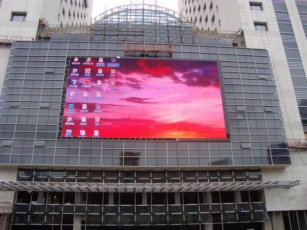 惠州商场外墙安装led显示屏图片