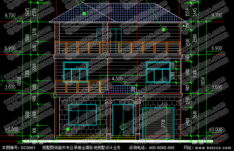 層數: 三層 結構形式: 磚混結構 參考造價: 20-25萬 開間: 10.5米 進深: 12米 占地面積: 121.1平方米 建筑面積: 310平方米 設計功能 一 層: 客廳、臥室、廚房、餐廳、衛生間、車庫 二 層: 臥室(附衛生間,書房)、臥室(附衣帽間)、臥室、衛生間、露臺 三 層: 健身房、露臺 圖紙內容 建 筑 圖: 建筑設計說明、工程做法、一層平面圖、二層平面圖、三層平面圖、屋頂平面圖、正立面圖、背立面圖、左立面圖、右立面圖、1-1剖面圖、樓梯大樣圖、節點大樣圖、門窗大樣圖、門窗表 結 構