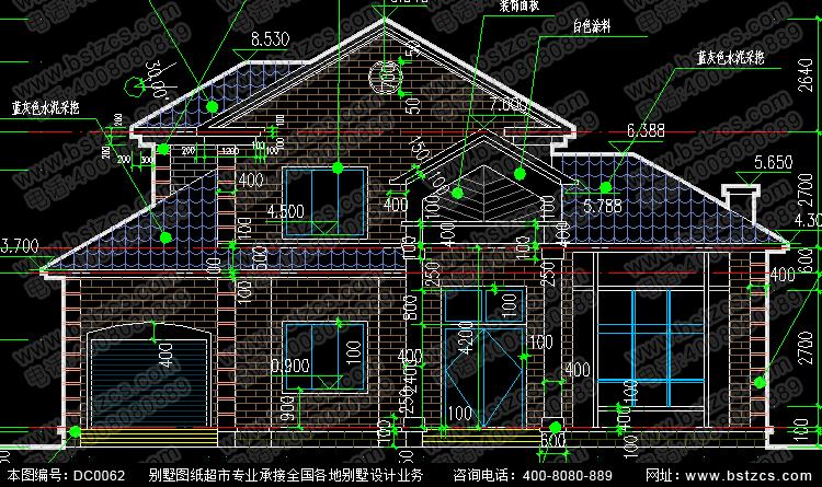 二層框架結構別墅設計圖_別墅設計圖紙_新農村自建房設計