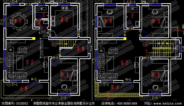 6米×10.6米三层新农村自建房设计_三层农村别墅设计图
