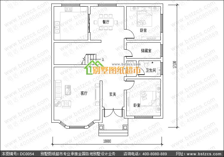 新农村二层小别墅_别墅设计图纸_农村房屋设计图